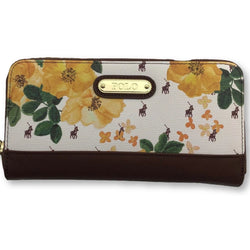 Polo Freedom Zip Around Purse Yellow Floral