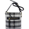 Polo Barclay Tartan Print Sling Handbag Black/White