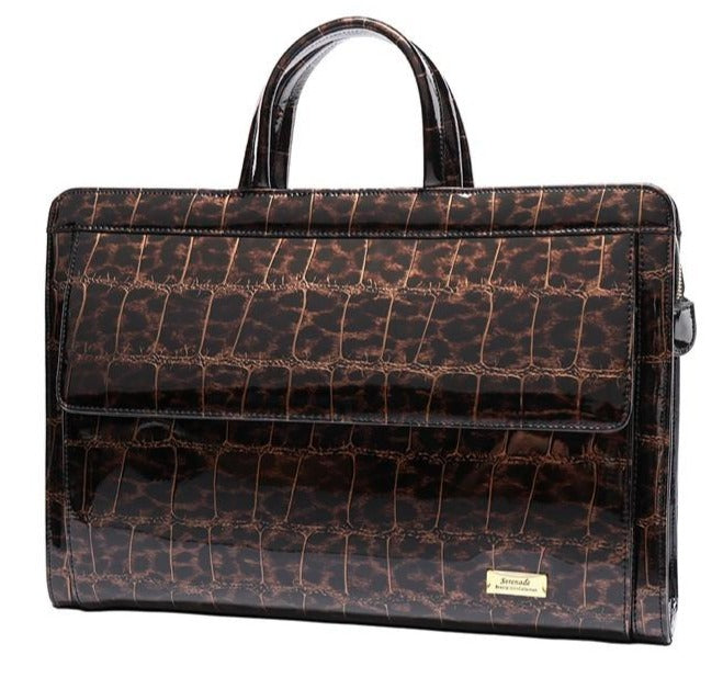 Serenade Leopard Patent Leather Briefcase