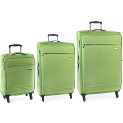 Cellini Cancun Set of 3 Trolley Cases Green