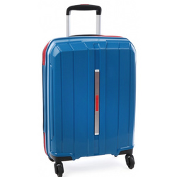 Cellini Cancun Hardshell 55cm Cabin Trolley Blue