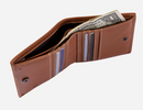 Jekyll & Hide Roma Slim Leather Billfold Wallet with Coin Pocket | Tan