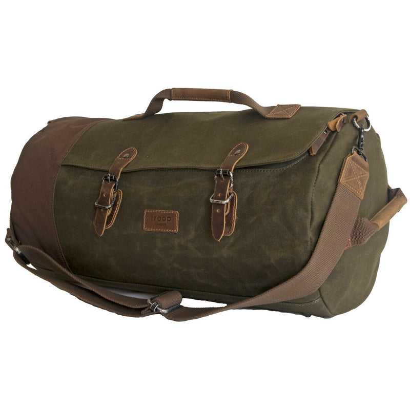 Troop London Heavy Wax Canvas Duffle Bag