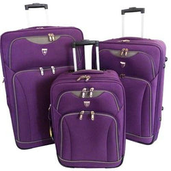 Elegant Space Age Collection Trolley Set | Purple