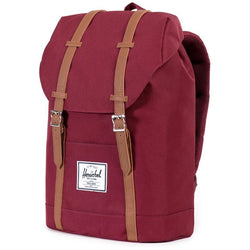 Herschel Supply Company Retreat Backpack | Windsor Wine/Tan Synthetic Leather