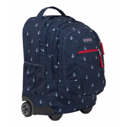 JanSport Driver 8 Wheeled Backpack | Red Tape/Land Ahoy