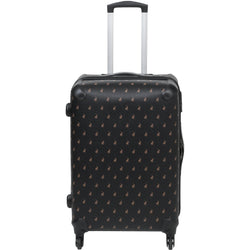 Polo Classic Double Pack Medium 4 Wheel Trolley Case Black