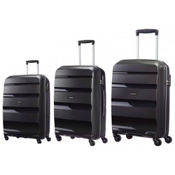 American Tourister Bon-Air 3-PC Travel Luggage Suitcase Set | Black