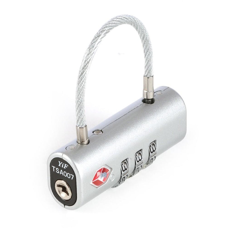 Cellini Accessories Horizontal TSA Cable Lock | Silver