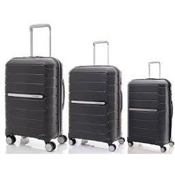 Samsonite Octolite Set of 3 Spinners | Black 55cm/75cm/81cm