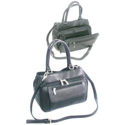 Gino De Vinci Ladies Leather Business Organiser Handbag  | Black