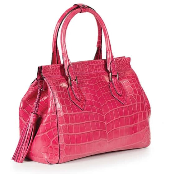 Zambezi Grace The Heritage Handbag | Cyclamen Pink (Genuine Crocodile Leather)