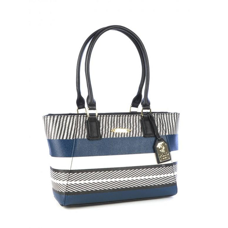 Polo Basket Weave Tote Bag | Navy