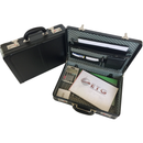Tosca Executive PVC Briefcase (Expandable) - With Combo Locks | Black - iBags.co.za