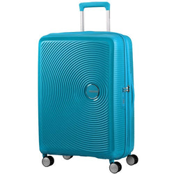 American Tourister Soundbox Spinner Expandable 67cm | Summer Blue