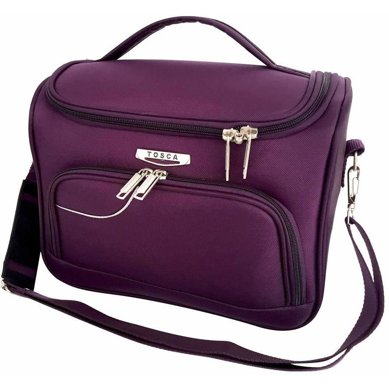 Tosca Gold Ultralight Softy Vanity Case | Purple/Light Grey