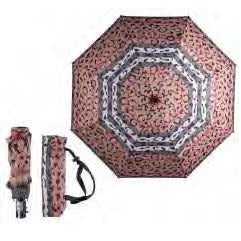 Caramia Umbrellas Catwalk Auto Umbrella | Black/Red