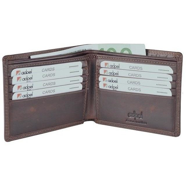 Dakota Leather Wallet with 8 Card Slots | Brown - iBags.co.za