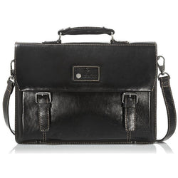 Jekyll & Hide Oxford Casual Flap-Over Tech Briefcase | Black