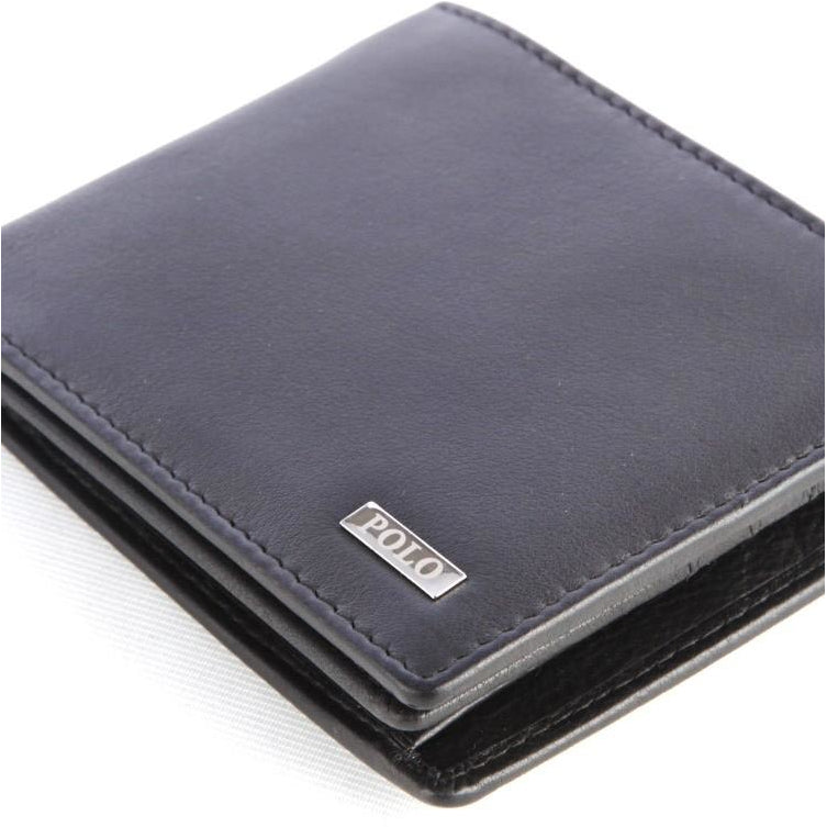 Polo Nappa Billfold Drivers License Wallet | Black