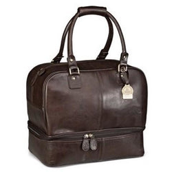 Gary Player Leather Double Decker Leather Golf Bag Brown