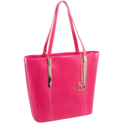 McKlein Cristina Leather Ladies' Tote with Tablet Pocket | Fuchsia