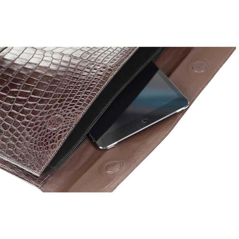 Zambezi Grace Conference Folder | Cognac (Genuine Crocodile Leather)
