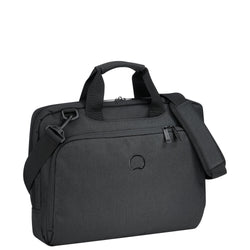 "Delsey Esplanade 15.6"" Laptop Bag Black"