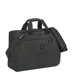 "Delsey Esplanade 15.6"" 2 Compartment Laptop Bag Black"