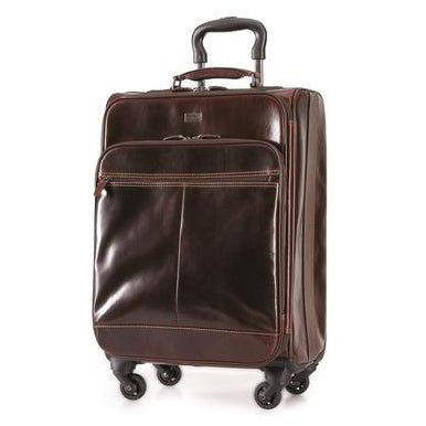 Brando Leather 4-Wheel Travel  Luggage Suitcase | Brown