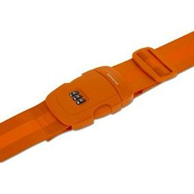 Samsonite Triple Combination Locking Luggage Strap Orange