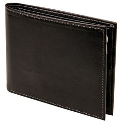 Adpel RFID : Synthetic Leather Wallet With Coin Purse | Black