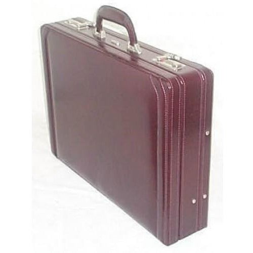 Gino De Vinci Genuine Leather Attache Case with Expanding Gusset