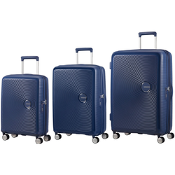 American Tourister Soundbox Set of 3 Spinners | Midnight Navy