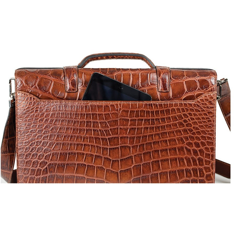 Zambezi Grace The Stanley Briefcase (Genuine Crocodile Leather)