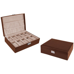 Carraro 10 Compartment Watch Box | Tan