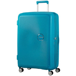 American Tourister Soundbox Spinner Expandable 77cm | Summer Blue
