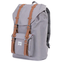 Herschel Supply Company Little America Mid-Volume Backpack | Grey/Tan Synthetic Leather
