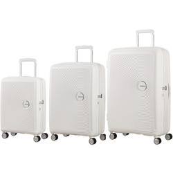 American Tourister Soundbox Set of 3 Spinners | Pure White