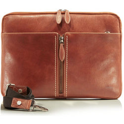 Jekyll and Hide Zulu Leather Laptop Folder | Tan