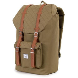 Herschel Supply Company Little America Backpack | Army Quilted/Tan Leather