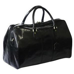Adpel Italian Leather Travel Bag Black