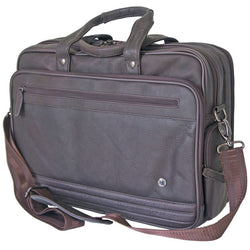 Gino De Vinci Colombia Leather Wide Screen Leather Computer Bag | Brown