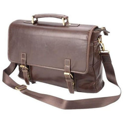 Dakota Leather Vibro Satchel | Brown
