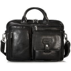 Jekyll & Hide Montana Leather Brief Black
