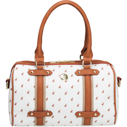 Polo Heritage Barrel Handbag White