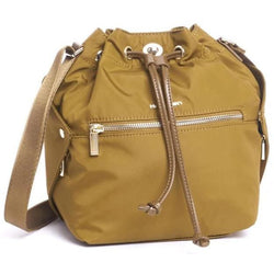 Hedgren Prisma Bucket Drawstring Handbag | Golden Olive