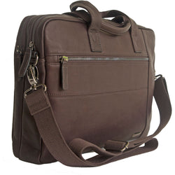 Gino De Vinci Colombia Leather Laptop Shoulder Bag