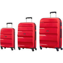 American Tourister Bon-Air 3-PC Travel Luggage Suitcase Set | Magma Red