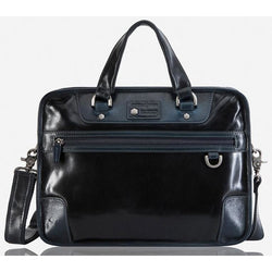 Jekyll & Hide Oxford Leather Laptop Bag Navy